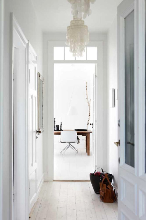 light wooden floor (via dustjacket attic: A Danish Apartment)