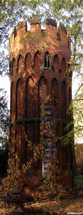 Rapunzel's Tower, Wales photo via pixie