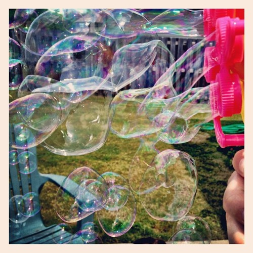 Having fun with bubbles! (Taken with instagram)