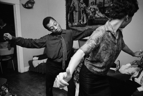musicbabes:  1963, Louisiana. Writer James Baldwin dancing with a Core worker in New Orleans. Photo by Steve Schapiro.