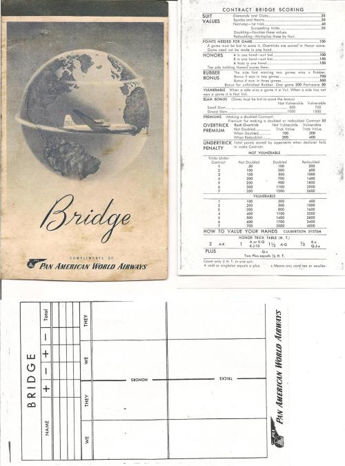 Detail of Bridge side of Bridge/Canasta premium from Pan Am