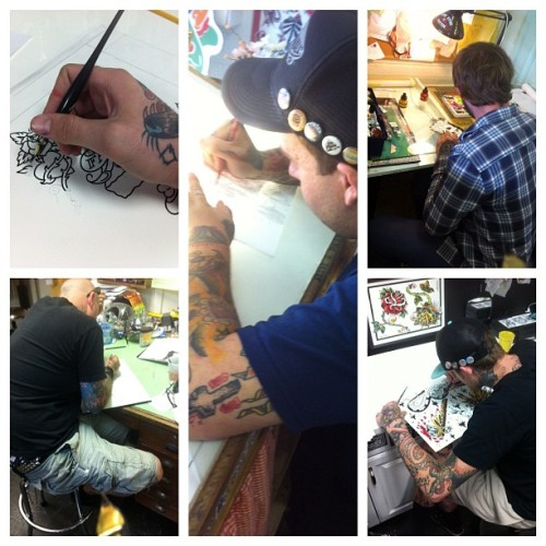 Everyone busyin' follow these rad dudes too! @underwoodtattoo @kg27tattoo @z_taylor @coryistoocoolforinstagram  (Taken with instagram)