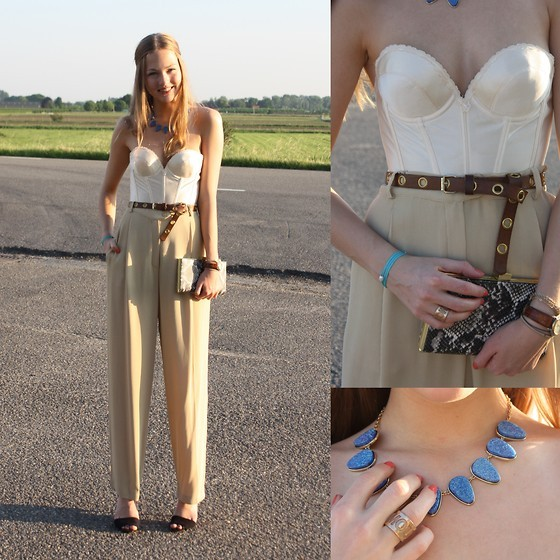 LOVE FOR VINTAGE (by Floortje Van Cooten) She's wearing her mom's wedding bustier. And her pants. Great taste runs in this family for sure.