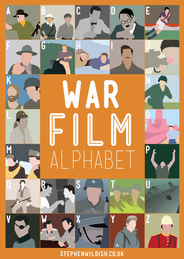 stephenwildish:  Friday Project: Film Alphabets..HUH.. what are they good for… absolutely nothing
