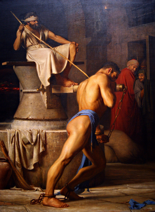 Carl Heinrich Bloch: Samson and the Philistines