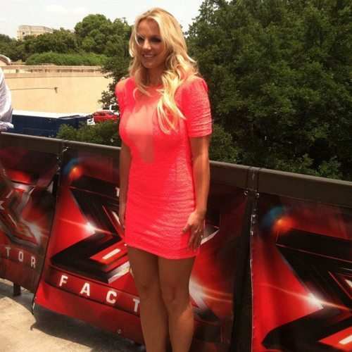 "Here's Brit in Austin, Texas doing some X Factor shit. You'll probably recognize the picture as the one appearing on your dashboard every 4th post with the caption ""Britney's Back!"" And while I will give her my slowest clap for putting in clean hair, lets not completely over look the fact that that person is having a full on anxiety attack.  Britney and I share two things: the ability to articulate our thoughts so poignantly and the inability to keep what we're feeling on the inside from showing on the outside. Her look is one I know well- shoulders raised and pressed against the neck, arms clenched straight to the side with fingers spread apart and grasping to the thigh for dear life. I bet if this person were to be touched right now, even by accident, she would wicked witch of the west into a big red carpet stain. Her smile gives her away too. I use the exact same one when somebody says something really nice or really horrible to me (both make me equally uncomfortable). These smiles have a few basic identifiers:  dead eyes, no skin movement between the brows and lips stretched so far across the face they could meet at the back of the head. People do them to look happy but also because it tightens the skin around the neck and reduces the chance of getting snapped with a double chin.  But, don't feel too bad for Britney—she gets 7 figures to calm her anxieties, while all I get is an old paper breathing bag and text from my Mother reminding me that I wouldn't feel this way if I'd just consider Ginkgo Biloba"