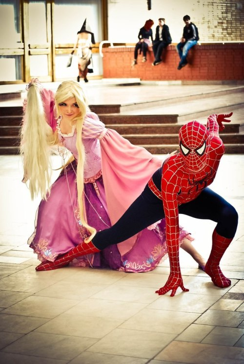 hiddenblondieold:   Rapunzel Doll and Spiderman by ~Usagi-Tsukino-krv