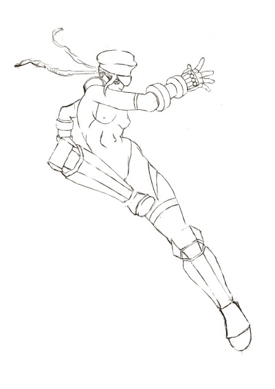 Cammy sketch  (Some day I'll color it)