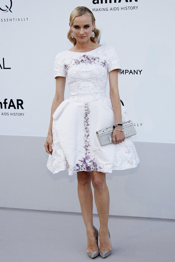 Diane Kruger at the amfAR event at Cannes, May 24th