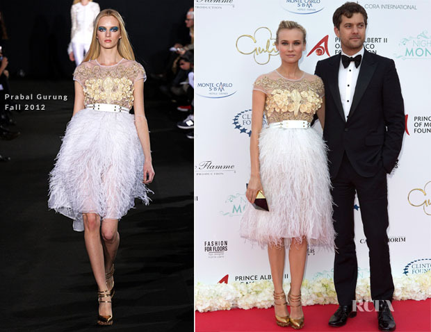 Diane Kruger in Prabal Gurung at the 'Night In Monaco' Gala Fundraiser. Once again…killing it.