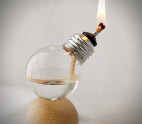 theabsolution:   Mini Recycled Light Bulb Oil Lamps