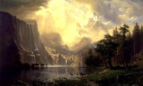 "Albert Bierstadt: Among the Sierra Nevada Mountains ""Source"""