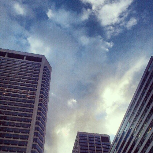 Downtown #clouds #TME (Taken with instagram)