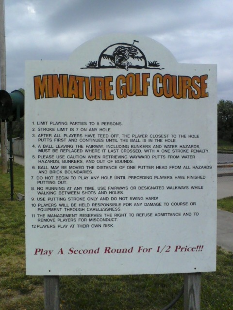 Did you know mini golf has rules? (other than don't whack your brother)