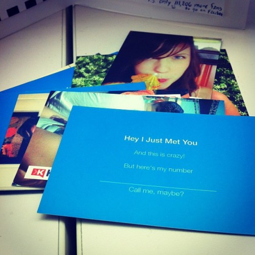 My Call Me, Maybe business cards that @heyguata made me. #win (Taken with instagram)