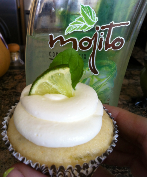 I had a ton to do today… I did none of it. Instead I made mojito cupcakes. Productive? No. Delicious? Yessssss.