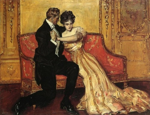The Marriage Proposal by Albert B Wenzell, 1904 US, private collection