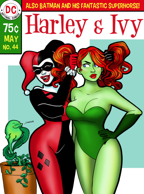 Harley & Ivy!  I would so have read a Silver Age Harley Quinn and Poison Ivy comic! Imagine all the idiotic adventures they would have gotten into!