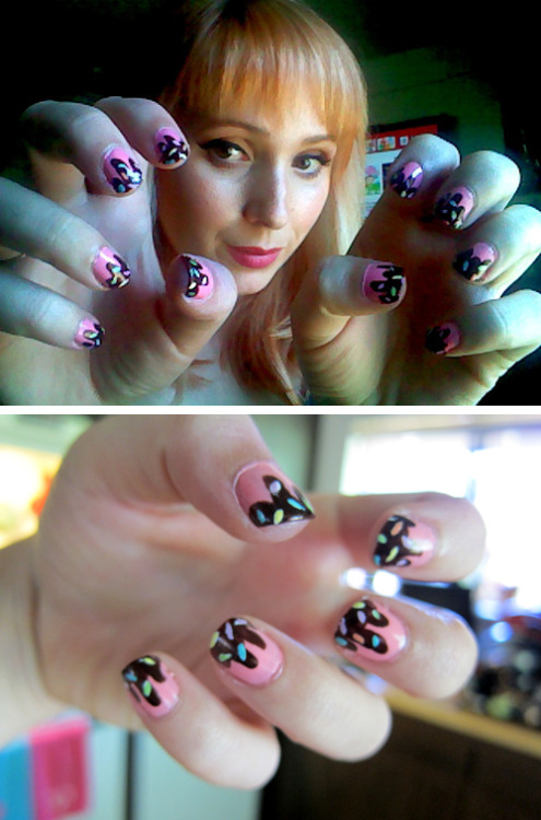 ♥ chocolate covered nails ♥