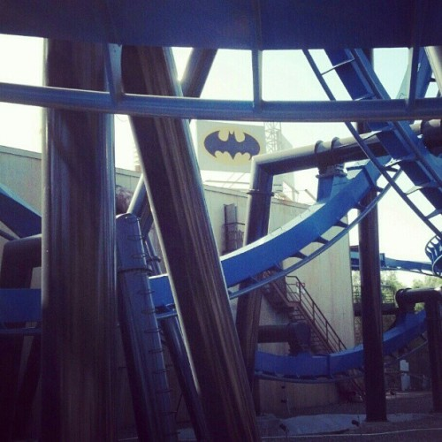#batman #six #flags #magic #mountain #roller #coaster (Taken with instagram)