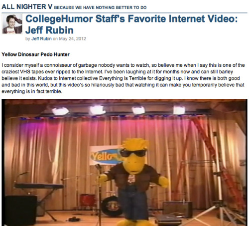 CollegeHumor Staff's Favorite Internet Video: Jeff Rubin