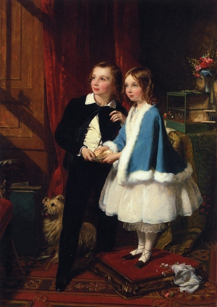 Lord Almeric Athelstan Spencer-Churchill and Lady Clementina Spencer-Churchill by James Sant, 1877 England, private collection