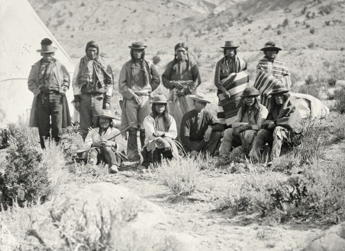 Pah-Ute (Paiute) Indian group, near Cedar, Utah, in 1872.  In the 1860s and 70s, photographer Timothy O'Sullivan created some of the best-known images in American History. The Atlantic has published some of his noteworthy work.