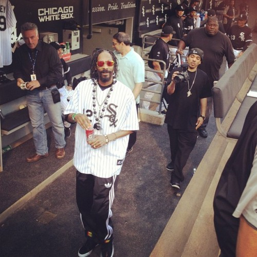 N tha dugout #whitesox #firstpitch (Taken with instagram)