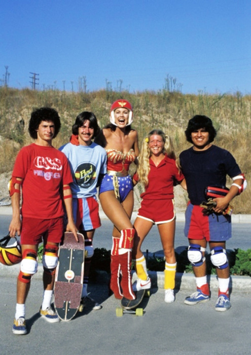 Wonder Woman  and some skaters 1970's.