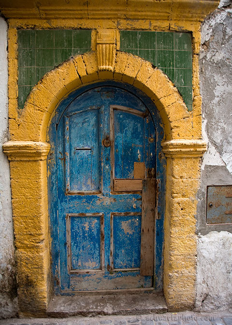 Blue Door. Morocco. By Amitai Schwartz