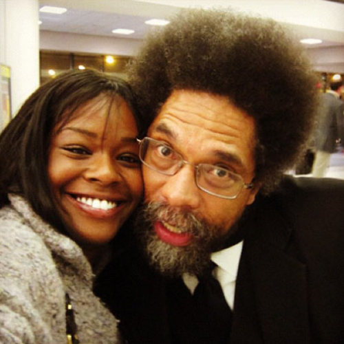 so-treu:  ok this is kinda awesome  Azealia Banks and Dr. Cornel West! This is seriously one the best pictures on tumblr.  music+knowledge=power