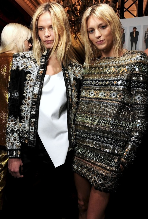deus-e-x-machina:  Natasha Poly and Anja Rubik at Balmain FW 11