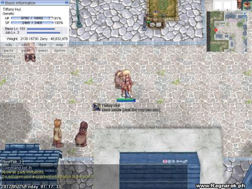 Tiffany Hui, my character in Ragnarok Online Philippines.