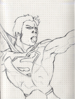 "Day 8: My favorite superhero of all time. Superman.   Today is a big day in the Rodriguez household. For the men anyway. I took my son to a comic shop for the first time. I restarted my comic book collection, and to honor that purchased a new DC 52 comic of Superman. My all time favorite superhero and comic book character.  My son was speechless and in his almost 3 year old brain of his thought, ""You mean I can have whatever I want!?!"" He went for Spiderman, but was intercepted by a Toy Story comic before making a decision. As I read it to him tonight, I realized how much of an impact this is probably going to make in his life. He enjoyed every bit of it."