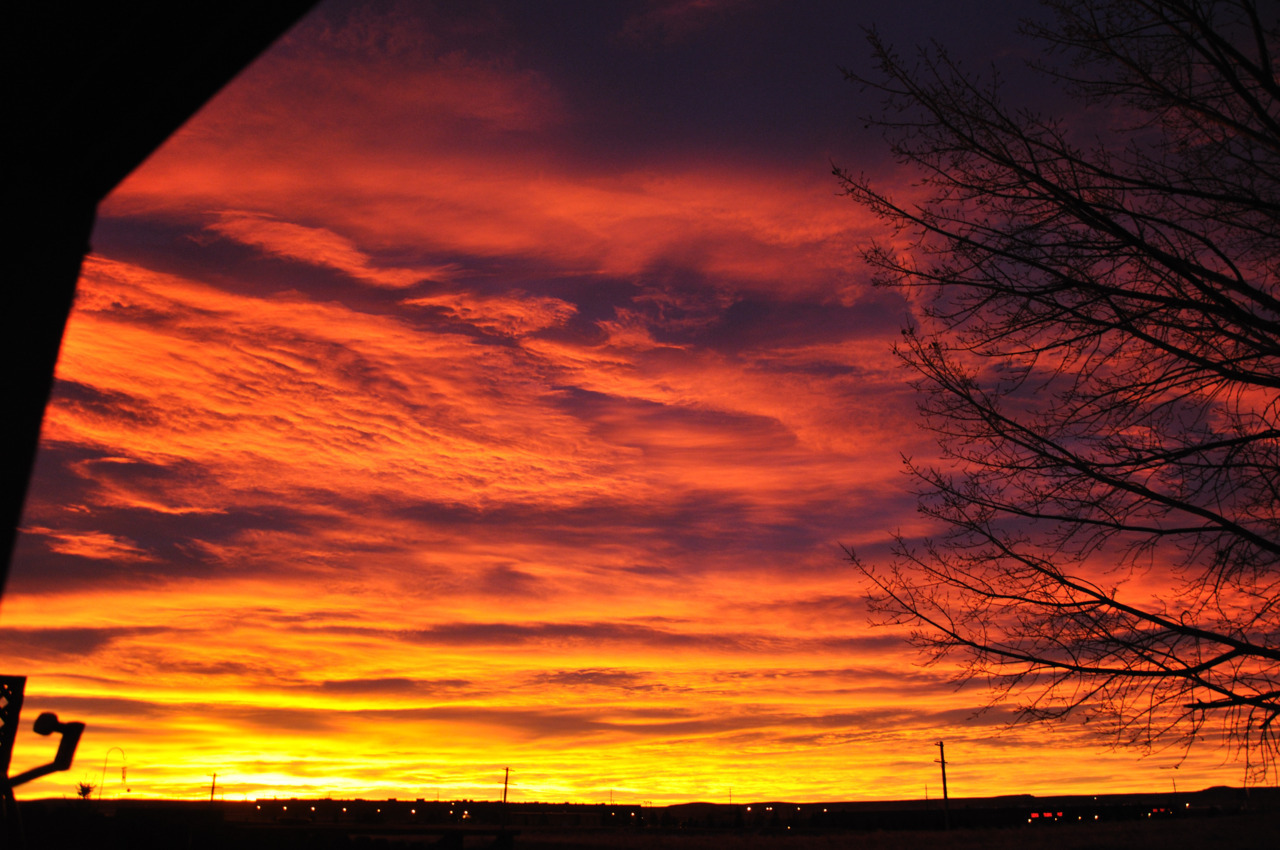 Sunrise. January 3, 2012. 7:08am. Cheyenne, WY.