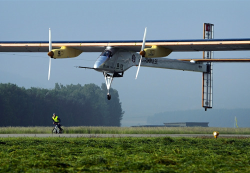kateoplis:  Solar Impulse attempts its first intercontinental flight from Switzerland to Morocco without a drop of fuel | MSNBC