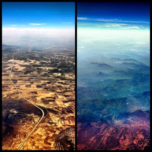 Definitely where I'd rather be.  oh-so-coco:  My amazing view over Mexico this afternoon. (Taken with instagram)