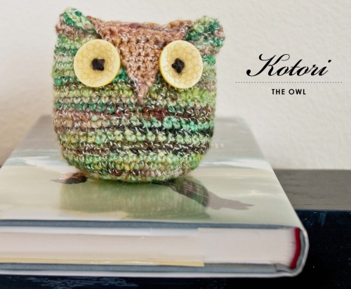 {made} — Kotori the Owl. LOVE using my handspun for this cute little owl. I didn't have safety eyes that were big enough, so found some fun buttons to use instead… think the yellow matches good and I liked their shape. Pattern can be found here.