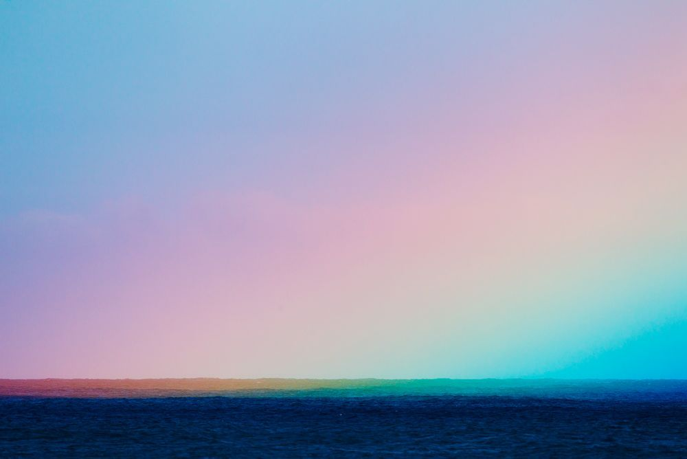 blua:  Rainbow over Ocean