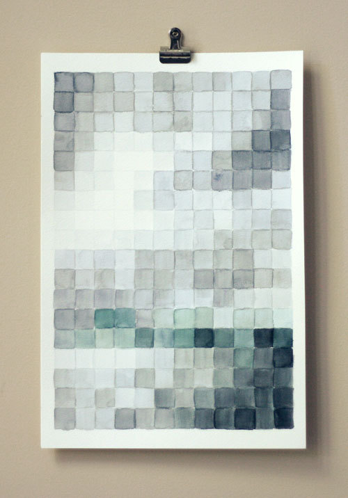 DIY pixel painting by Wit & Whistle