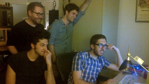 CollegeHumor Behind the ScenesEditing All Nighter videos with Ben Schwartz, Amir,  Sam and Josh.Don't forget to watch www.collegehumor.com/allnighter