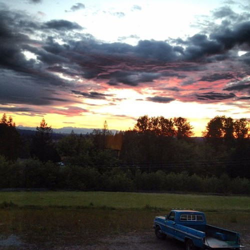 Sunset in the Northwest (Taken with instagram)