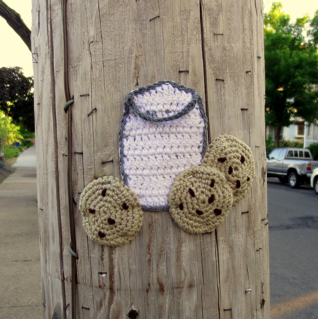 Crocheted graffiti. So much better than any other kind.