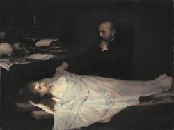 opus53:  Gabriel Cornelius Ritter von Max, The Anatomist, Oil on canvas, 1869
