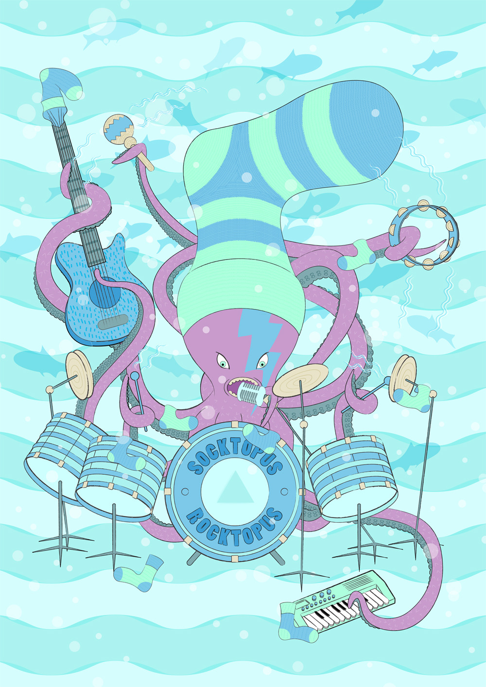 Socktopus Rocktopus. I know you have all been waiting for me to finnish this one ha ha. Garryhannah.org twitter.com/gh84z
