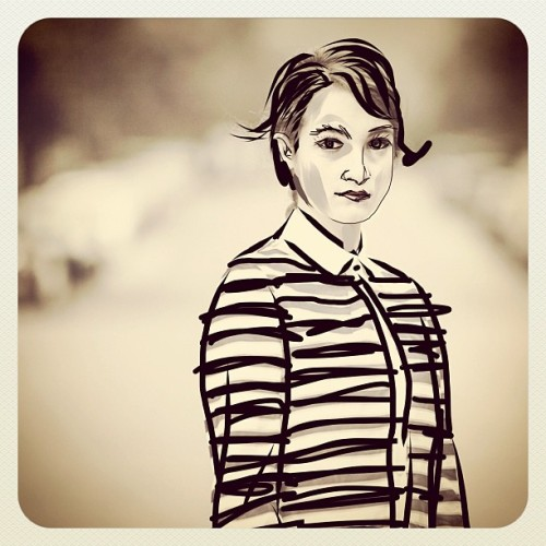 verseversusverse:  #portrait #sketchbook #ink #ipad #trace (Taken with instagram)