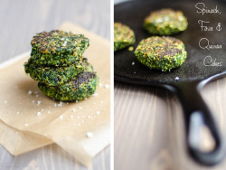 beautifulpicturesofhealthyfood:  Spinach, Fava Bean and Quinoa Cakes…RECIPE
