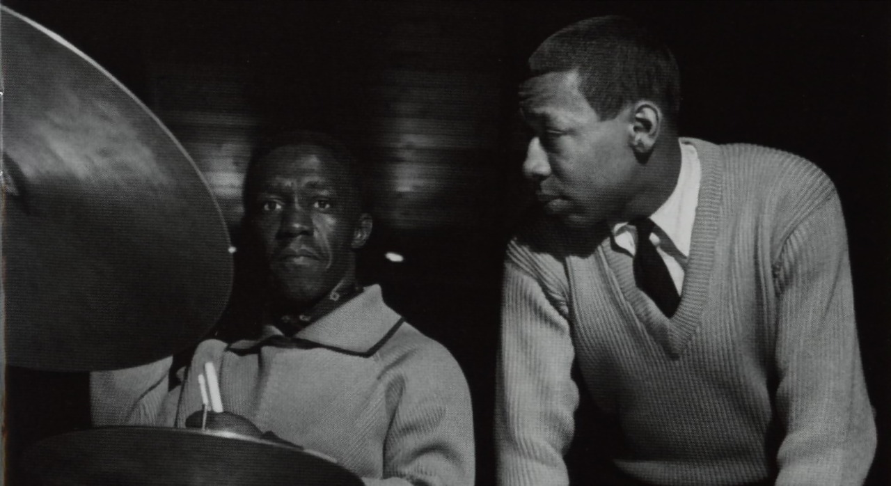 bainer:  Art Blakey and Lee Morgan during Blakey's The Big Beat session, Englewood Cliffs NJ, March 6 1960 (photo by Francis Wolff)