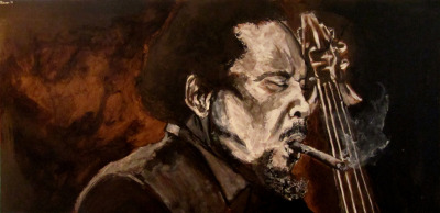robinsonero:  Mingus I 2 x 4 foot, latex paint, india ink