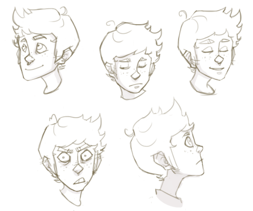 pepperdraws:  I started doing a 25 Expressions thing because it's been my lifelong dream to finish one (or at least finish more than one expression.) So here's a few. Of course I'd also like to do a Ness version… at some point in my life…